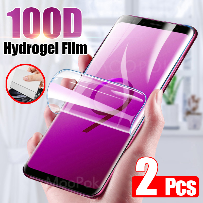 2Pcs 100D Screen Protector For Samsung Galaxy S10 S9 S8 S20 Plus Ultra Full Cover Soft Film For Samsung Note 10 9 Film Not Glass 1