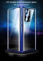 Doppelseitige Glas Fall Für Samsung Galaxy Note 20 Ultra S20 Plus M31 Abdeckung Mit Kamera Objektiv Protector Magnetische Telefon fall