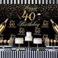 Надувной шар на 40 дней рождения, украшение для вечеринки в честь Дня Рождения, 40 фотогелиевых шаров, украшение на 40 дней рождения