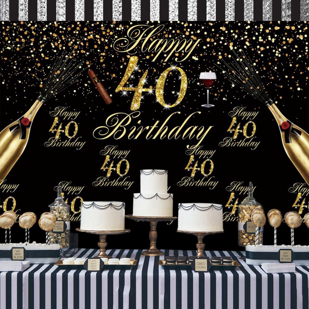 PATIMATE 40 год День рождения шар с днем рождения украшение партии 40 воздушный шар на день рождения Гелиевый шар 40 день рождения украшение