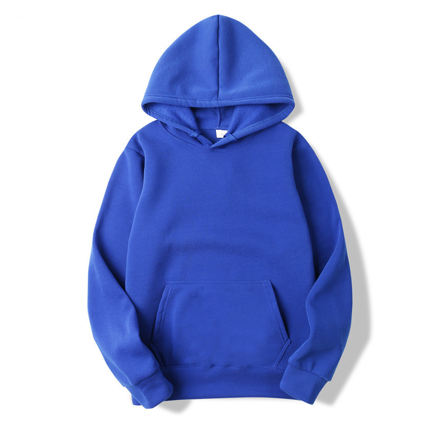 2019 Fashion Colorful Hoodies Men's Thicken Clothes Winter Sweatshirts Men Hip Hop Streetwear Solid Fleece Man Hoody S-XXXL