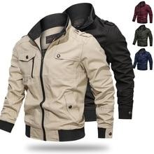 2020 Spring and Autumn Men's Bomber Jacket Casual Plus Size Male Military Jacket Cotton Pilot Coat Army Men Cargo Flight Jacket