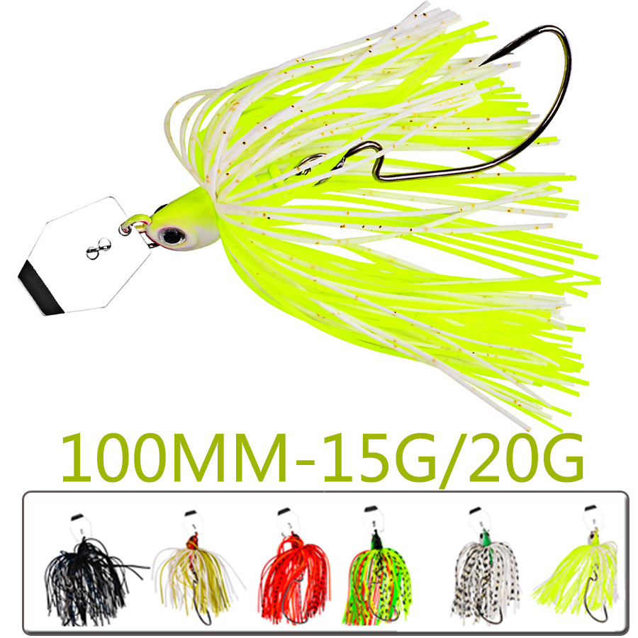 1pc Crankbait Tackle Fishing Lure Sea Chatterbait Spinnerbait Hard Bait Artificial Weights 15-20g Wobbler For Pike Fish Trolling-0