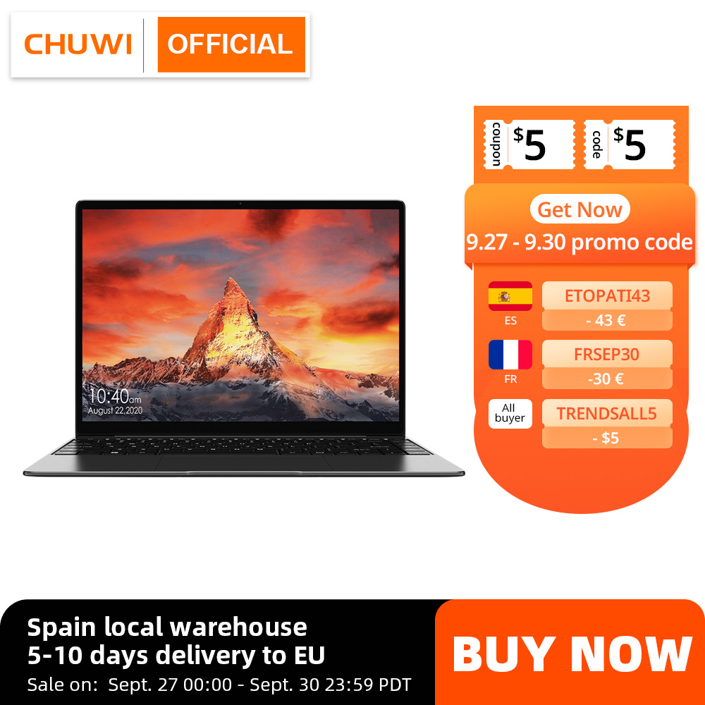 best budget laptop 2021 CHUWI GemiBook Pro 14 inch 2K Screen Laptop 8GB RAM 256GB SSD Intel Celeron Quad Core Windows 10 Computer with Backlit Keyboard|Laptops| - AliExpress