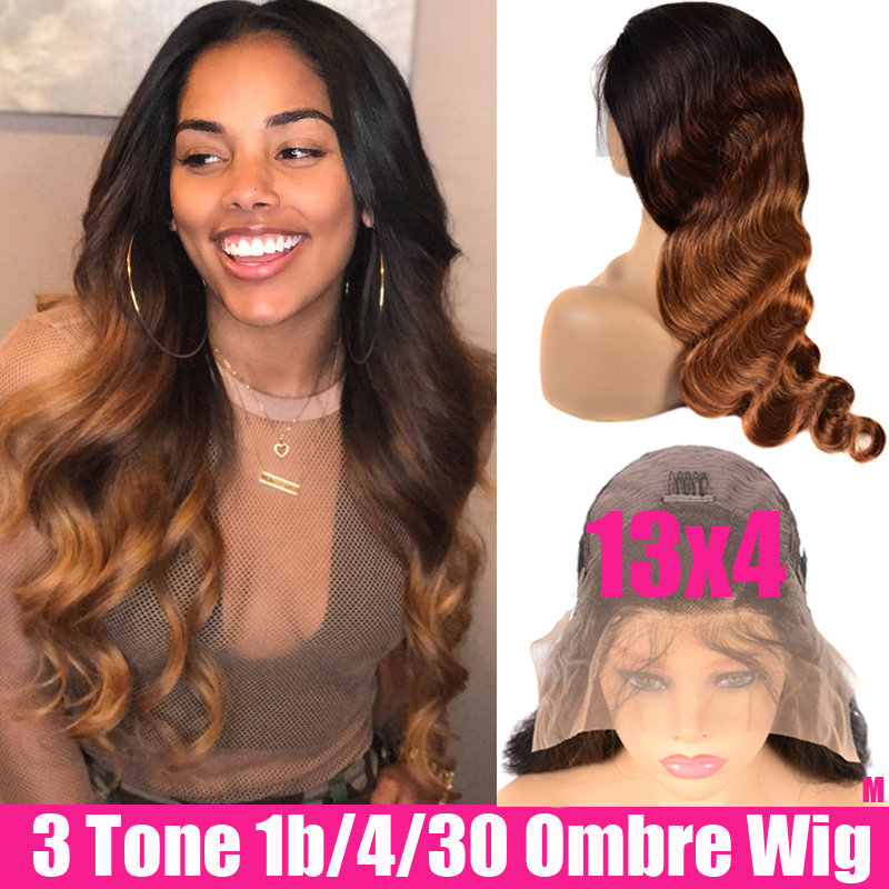 13x4 Brazilian Body Wave Lace Front Wig Ombre Human Hair Lace Frontal Wigs Glueless Remy Lace Front Human Hair Wigs For Women
