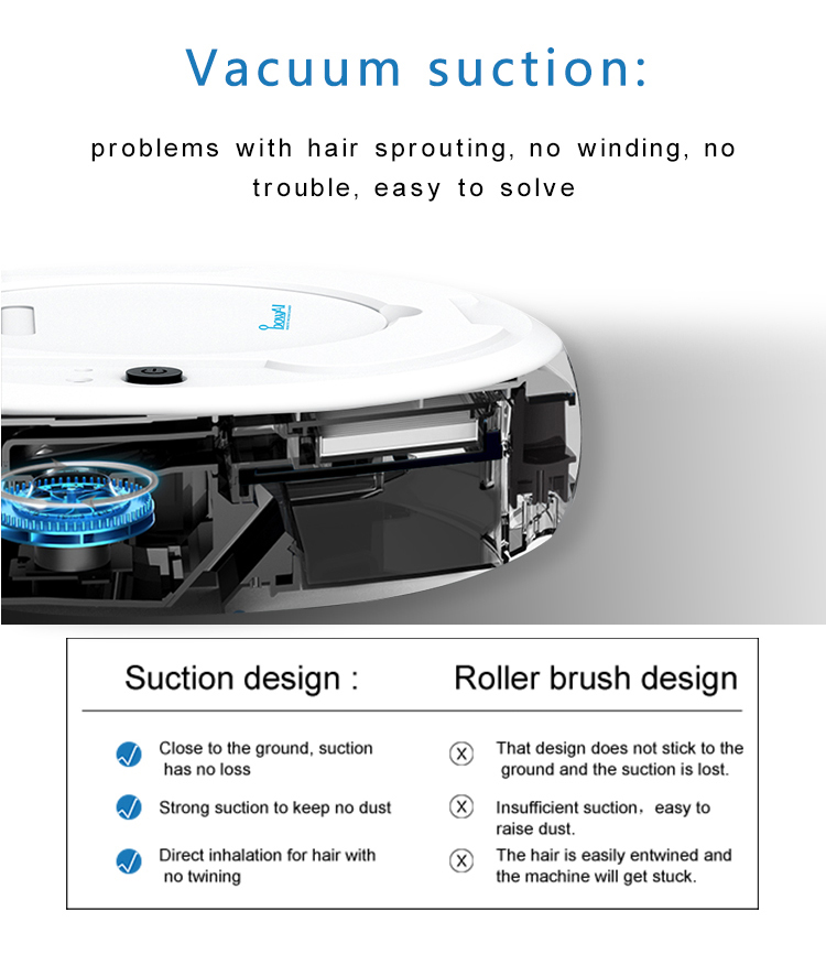 H7218d5ebb152450eb12556d51175be53B LEARNHAI Christmas Gift OB8 Automatic Rechargeable Strong Suction Sweeping Smart Clean Robot Vacuum Cleaner For Home Office