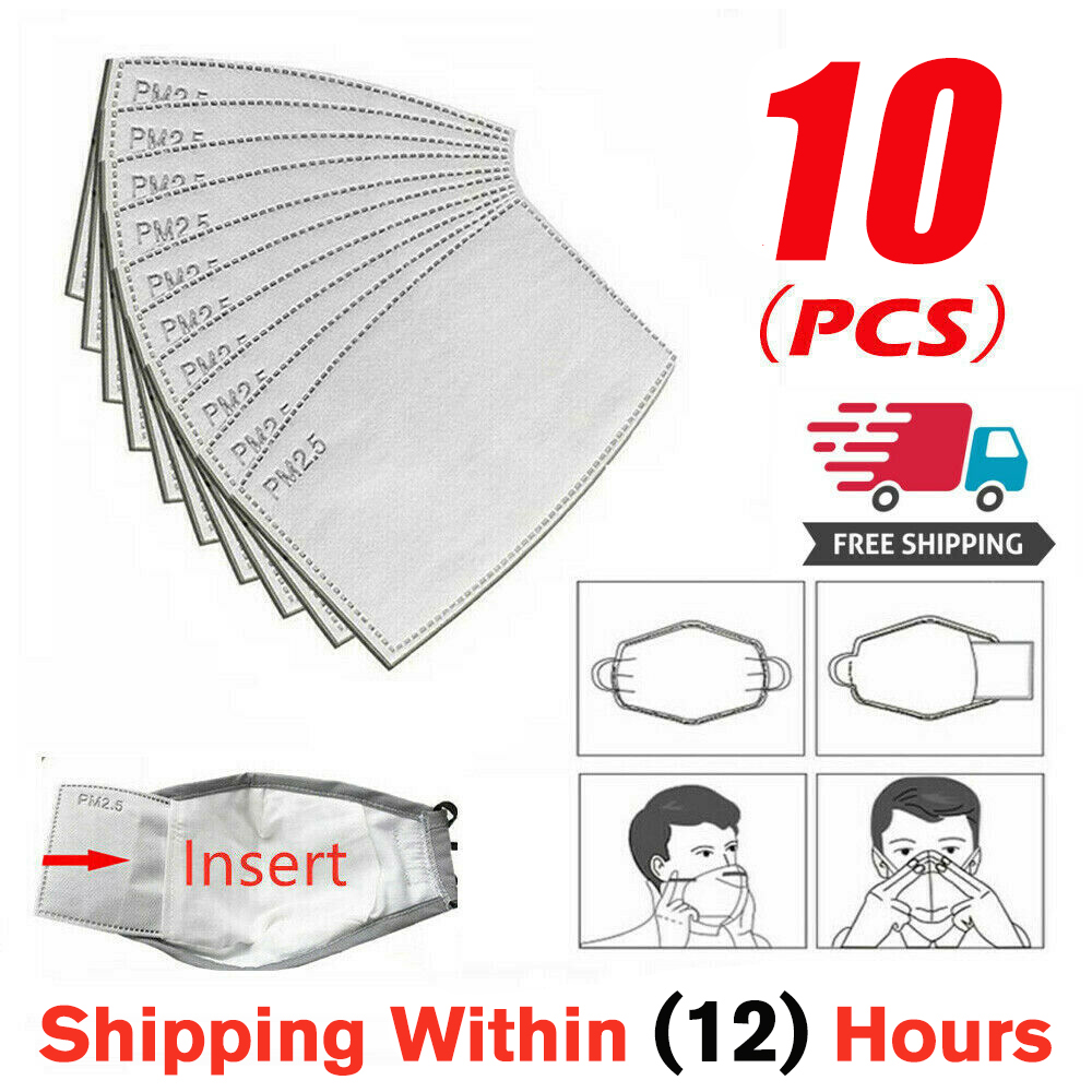 10pcs PM2.5 Filter Paper Anti Dust Mouth Mask Filter Paper Health Care Breathable Outdoor Mouth Cover In Stock! Fast Delivery