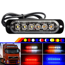 DC 12V-24V 4 LED 6 LED 12 LED Car Truck Beacon Strobe Warning Lamps Hazard Grille Flashing Marker Light Traffic Police Lightbar(China)