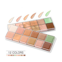 12 Colors Face Concealer Cream Primer Profissional Long Lasting Cosmetic Face Contour Corretive Makeup Base Concealer Palette heres b2uty full cover paleta de corretivo profissional 4 colors cosmetic camouflage concealer palette cream face makeup