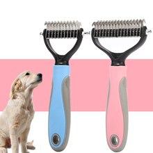 2 цвета стрижка кошек и собак Расческа Щетка для домашних животный собак кошек волос щетка для удаления меха аксессуары для собак домашних животных