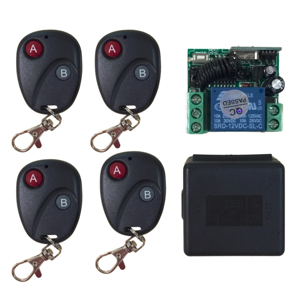 Universal Remote Control Relay DC12V 7A <font><b>1CH</b></font> Wireless Remote Control Switch Transmitter Receiver System image