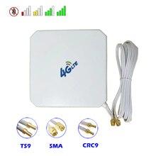 Antena de alta ganancia Mimo 35dBi 4G 3G, con ventosa Dual SMA TS9 CRC9, conectores macho para enrutador de módem, repetidor de punto de acceso de refuerzo