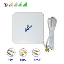 Antena mimo 35dbi 4g 3g com ventosa, conectores macho sma ts9 crc9 para modem impulsionador repetidor de ponto quente roteador