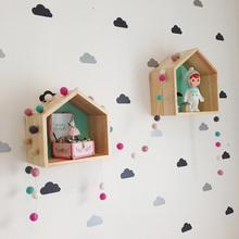 Little Cloud Wall Stickers for Girl Baby Nursery Wall Decals Kids Room Bedroom Living room Home Decoration Decorative Stickers tanie tanio BRUP CN (pochodzenie) Naklejka ścienna samolot Nowoczesne Do lodówki Do płytek Na ścianie Meble Naklejki Panel przełącznika Naklejki