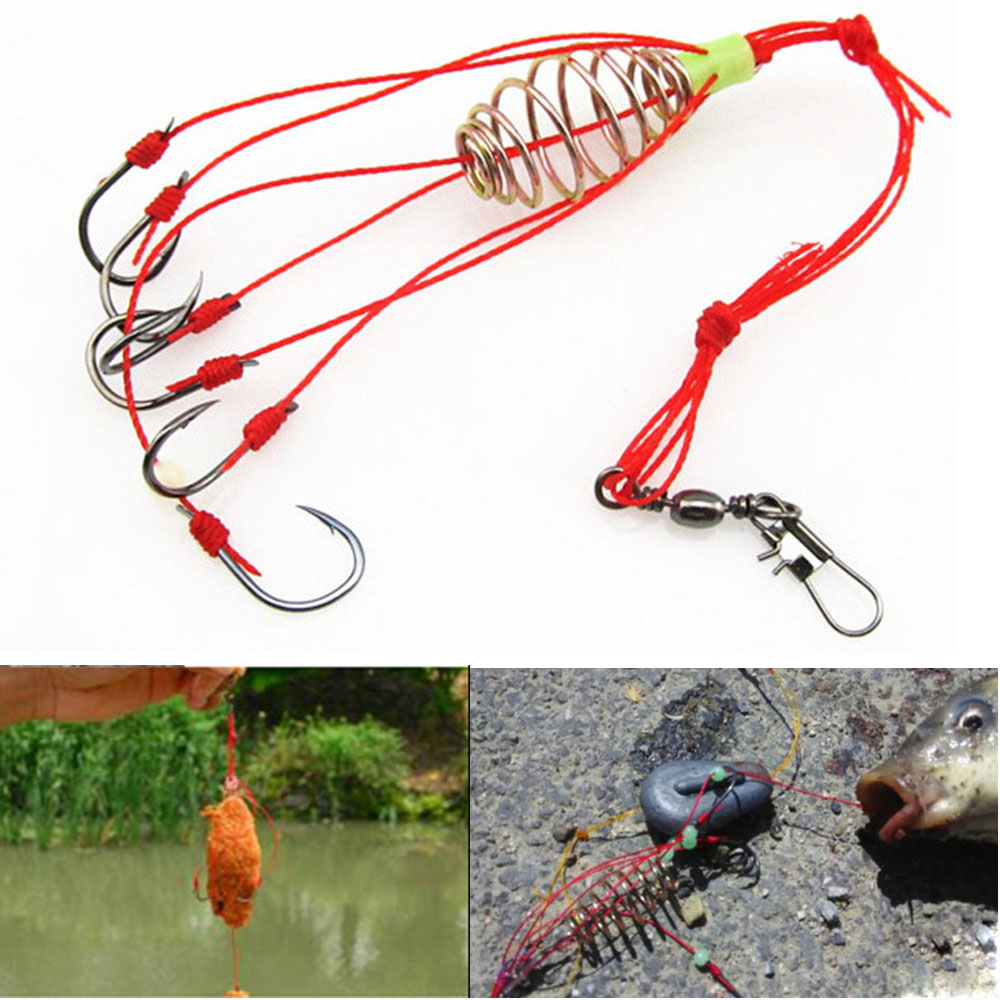 4Pcs Anti-Hanging Carp Fishing Baits Hook Explosion Lure Fish Bait with Spring
