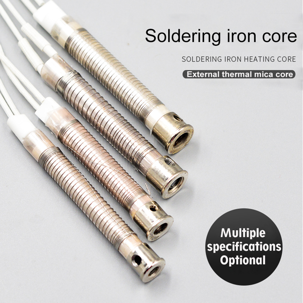 High Quality 5pcs 220V 30/40/60/80/100/150W Soldering Iron Core Heating Element Replacement Welding Tool Metalworking Accessory