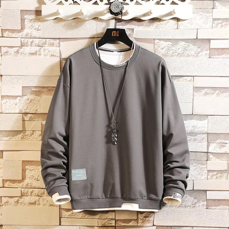 Autumn Spring 2020 Hoodie Sweatshirt Mens Black White Hip Hop Punk Pullover Streetwear Casual Fashion Clothes Plus OVERSize 5XL
