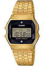 Оригинальный casio унисекс золото ретро драгоценный камень цифровые наручные часы a159wged-1df a159wged-1df часы для мужчин