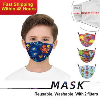 Zawaland Kids Protective Face Mask Anime Cartoon PM2.5 Filter Mask Anti Dust Mouth-muffle Washable Fabric Masks