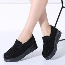 أحذية رياضية بدون كعب للنساء للربيع 2019 من TKN ، أحذية خفيفة من الجلد السويدي سهلة الارتداء ، أحذية نسائية غير رسمية 8714
