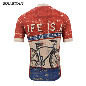 Image 3 - 面白いサイクリング青赤男性夏の半袖の服サイクリング着用自転車服サイクリング服 braetan