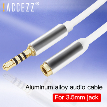 !ACCEZZ 2M 3M Audio Cable Car AUX Converter for iPhone 11 Xiaomi 9 Samsung 3.5mm Jack AUX Audio Cable Headphone Splitter Adapter image