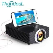 Thundeal yg500 yg510 gm80a mini projetor 1800 lumens led lcd vga hdmi led beamer suporte 1080 p yg500a 3d projetor portátil