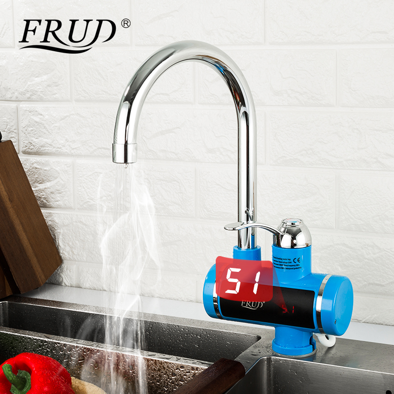 FRUD Instant Electric Shower Water Heater Hot Faucet Kitchen Electric Tap Water Heating Instantaneous Water Heater Torneira