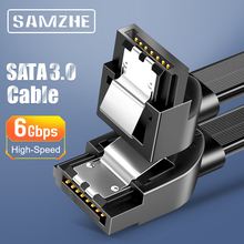 SAMZHE SATA Cable 3.0 Hard Disk Driver SSD Adapter 90 Degree Bending SATA Cable for Computer Connection