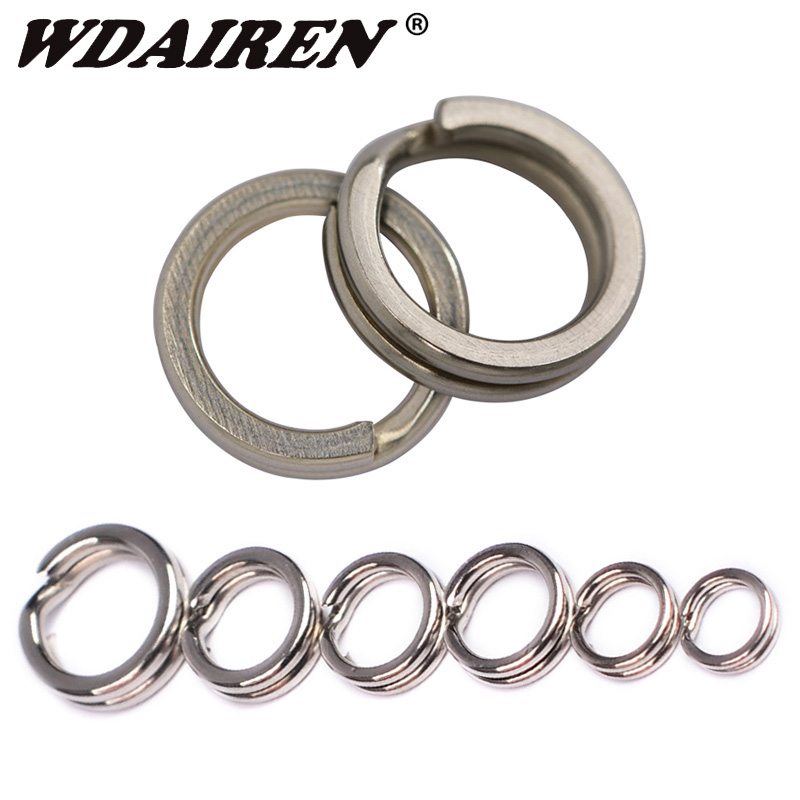 100pcs Stainless Steel Fishing Split Ring For <font><b>Blank</b></font> <font><b>Lures</b></font> Bait 4mm-7mm Double Circle Loop Connector Carp Fishing Accessories image
