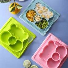 Набор силиконовой посуды с мультяшным рисунком набор из 2 столовых