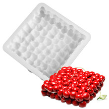 Silicone 3D Cherry Cake Mold Tray For Baking Chocolate Mousse Decorating Tools Cakes Mould Pan bakeware White