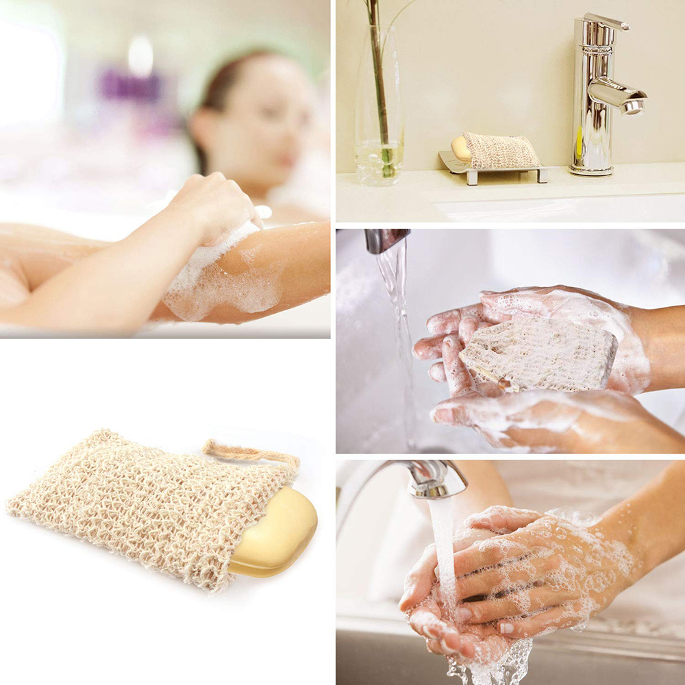Foaming Massage Handbag Handmade Natural Cotton And Linen Soap Bag Bathing Horny Anti-Slip Sleeve Face Cleanser Cleaning Tool