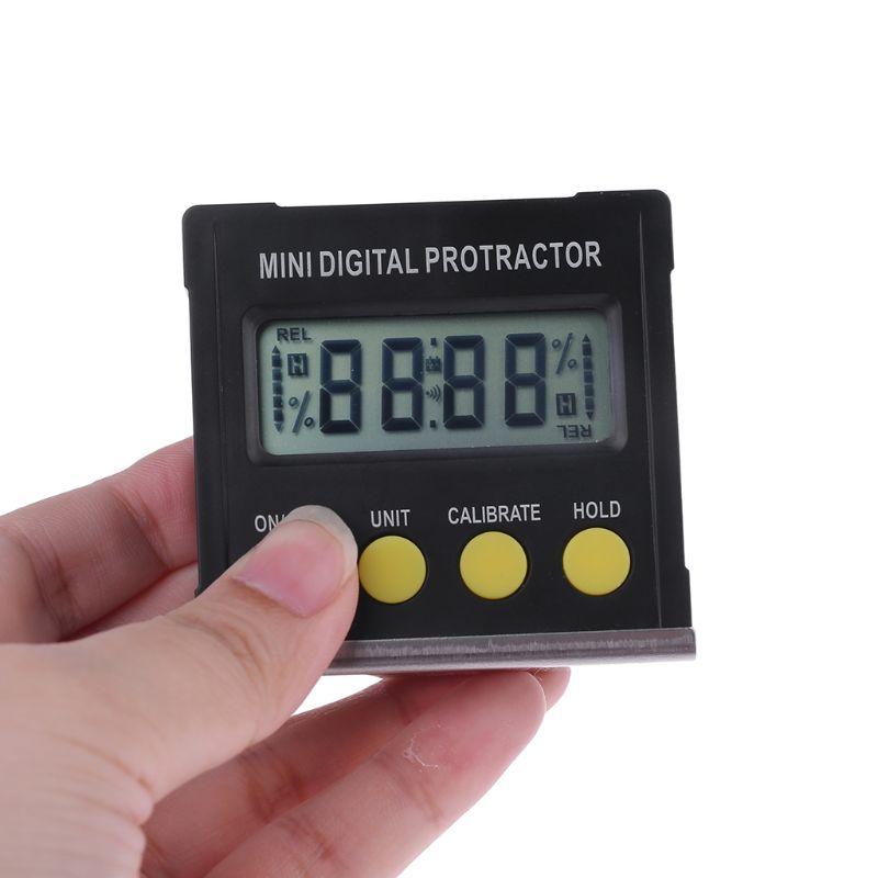 360 grados Digital Protractor inclinómetro caja de nivel electrónico Base magnética herramientas de medición Relojes SMAEL 2019 para hombre, reloj Digital LED de cuarzo súper Guay, reloj de pulsera impermeable de 50 M, reloj para hombre, reloj Masculino