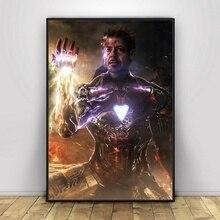 Мстители эндгейм Железный человек танос Бесконечность гаунтлет постер фильма домашний декор настенные изображения стена искусство Cnavas печать#1