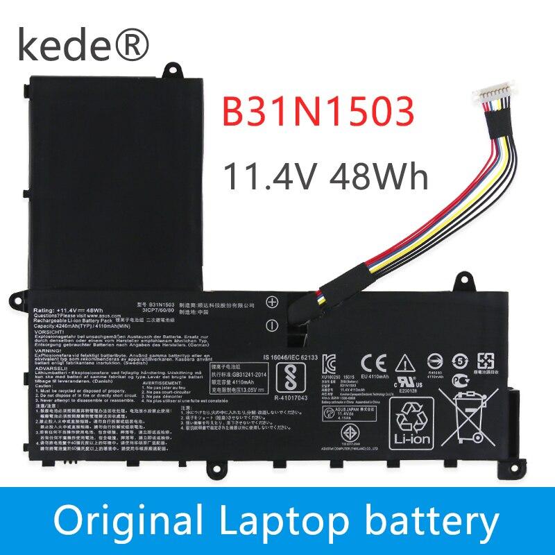 Kede 11.4V 48wh D'origine B31N1503 0B200-01690000 batterie d'ordinateur portable pour asus EeeBook E202SA Série table d'ordinateur portable