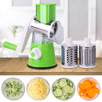 Potato Carrot Grater Slicer Round Mandoline Slicer Potato Cheese Vegetable Fruit Tool Multifunction Chopper Blades Kitchen Tool|Manual Slicers| |  -