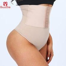 GUUDIA High Waist Tummy Control Sexy Thong Shapers Women Control Panties Firm Compress Girdle Waist Trainer Cinchers Butt Lifter