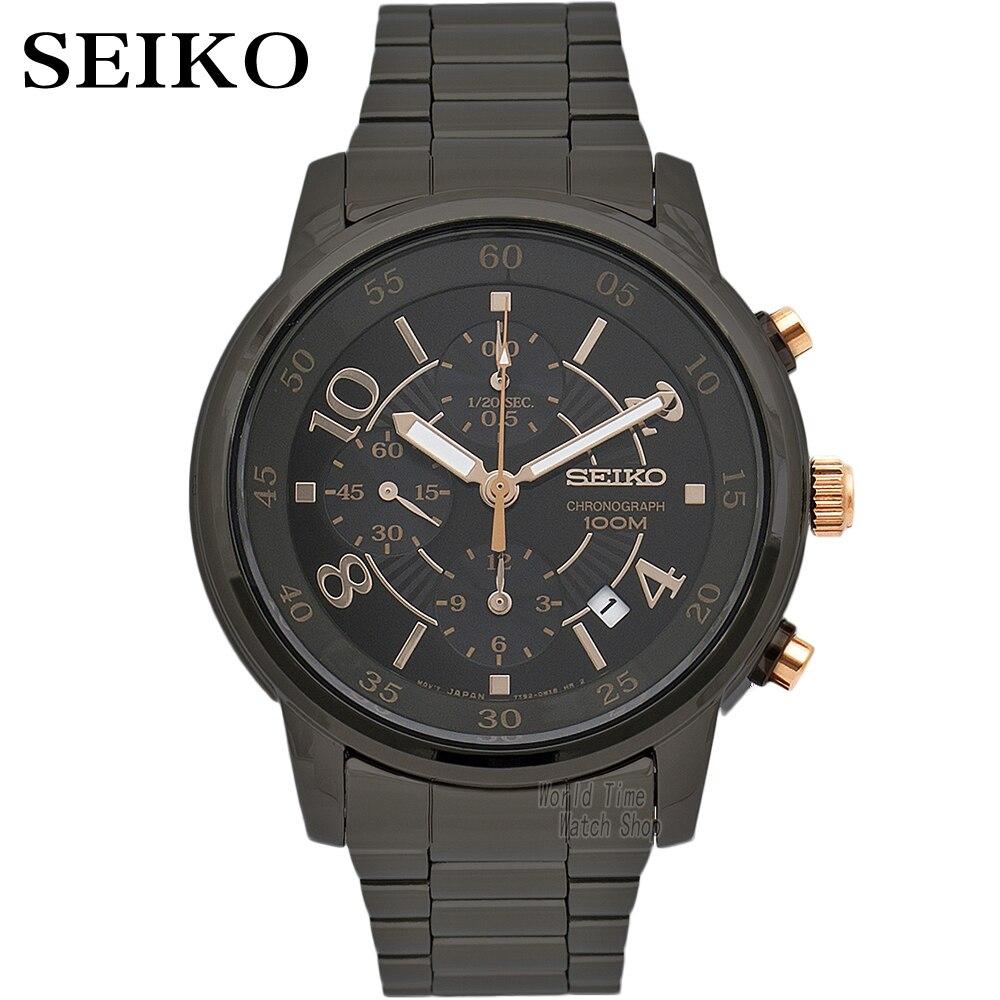 Montre seiko hommes de luxe marque étanche Sport montre bracelet solaire montre chronographe quartz montres hommes montres Relogio Masculino-in Montres sport from Montres    1