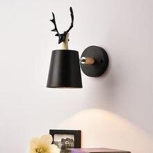Скандинавский e27 светодиодный настенный светильник современная