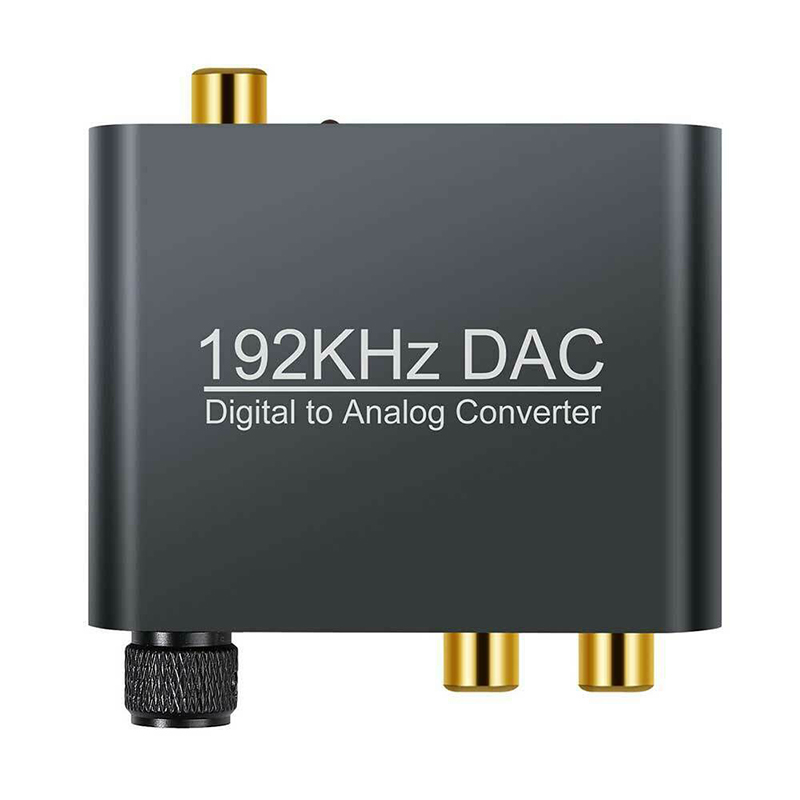DAC Digital Optical Toslink Coaxial To Analog L/R RCA Audio Adapter Converter 3.5MM Digital To Analog Audio Amplifier Converters