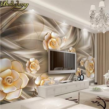 beibehang custom Dream Big Flower 3d mural wall paper Large mural wallpaper bedroom living room TV background 3d photo wallpaper цена 2017