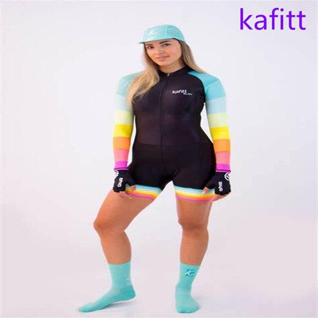 2020-kafitt triathlon bicicleta pouco macaco ciclismo wear workwear esportes correndo mulher vestido de uma peça manga longa loop conjunto pro 5