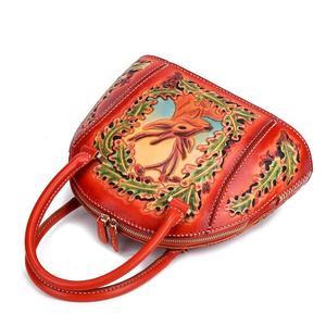 Image 3 - Johnature 럭셔리 핸드백 여성 가방 디자이너 2020 새로운 수제 가죽 조각 레트로 숙녀 핸드 가방 중국어 스타일 토트