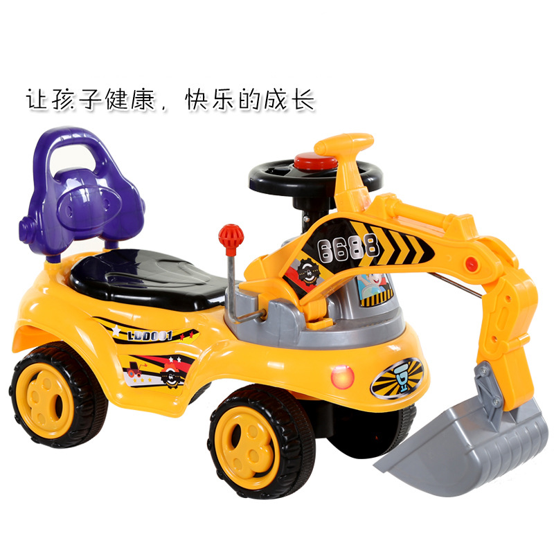 CHILDREN'S Excavator Can Sit to Ride Large Size Electric Boy Excavator Toy Car Charging 0-1-2-3-4-6-Year-Old 5