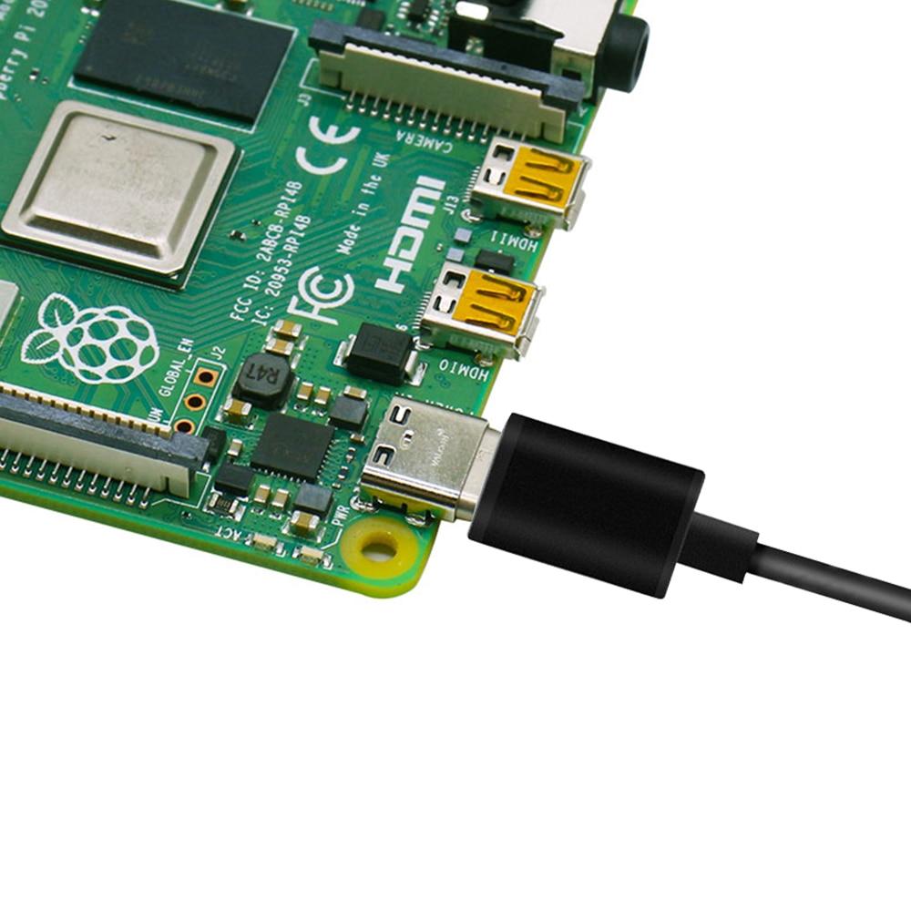 Raspberry pi 4 выключатель питания линии type-c интерфейс 5V 3A USB источник питания