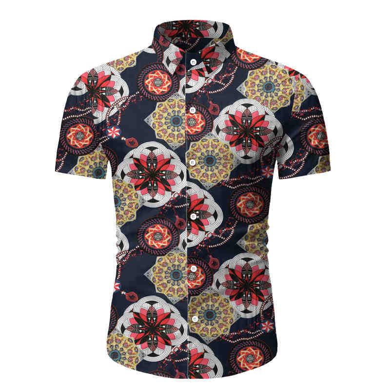 2020 Shirt Floral Beach Shirt Men Business Shirt