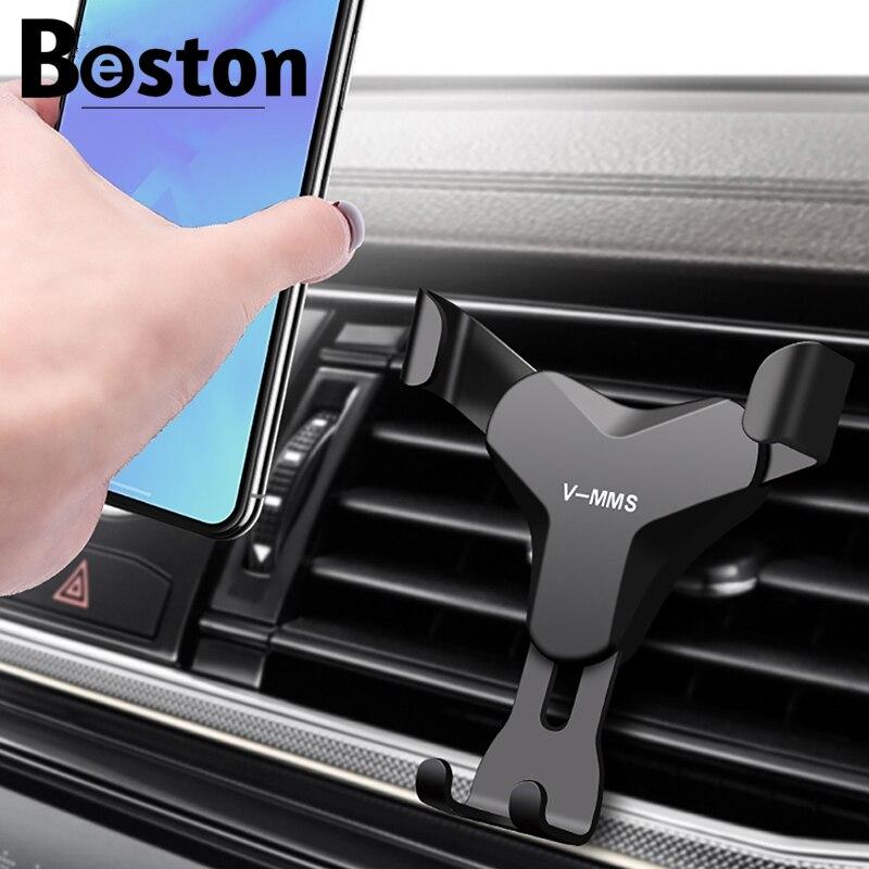 Гравитационный Автомобильный держатель для телефона в держатель на вентиляционное отверстие автомобиля зажим держатель для сотового теле...
