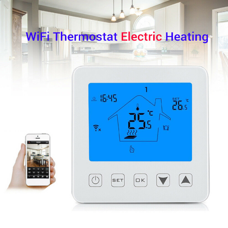 Dreamburgh WiFi Thermostat Temperature Controller LCD Smart Digital Controller For Electric Heating Works With Alexa Google Home