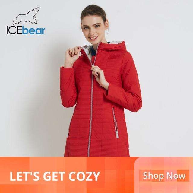 ICEbear 2019 jesień płaszcz długi bawełniane damskie